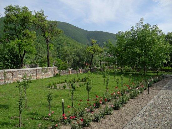 Sheki Khan's Palace : Park mit Aussicht