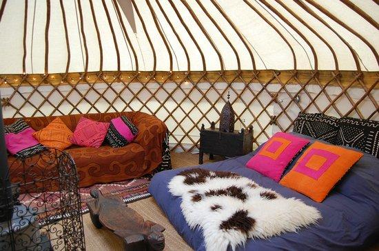 Hunger Hill Yurt Holidays - Yurts in Devon: Orchard Yurt