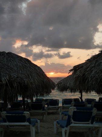 VIK Hotel Arena Blanca: the beach setup at sunrise