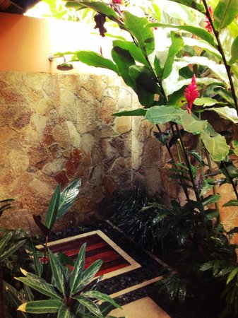 Rio Celeste Hideaway Hotel : Outdoor shower