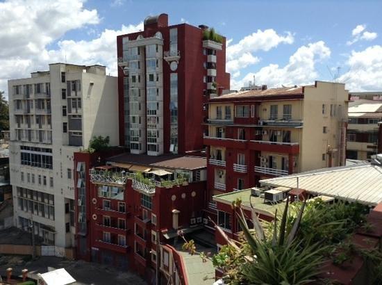 Hotel Colbert: vue de la chambre
