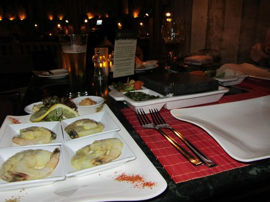 The Royal Savoy Sharm El Sheikh: Hot rocks - Cook your own!