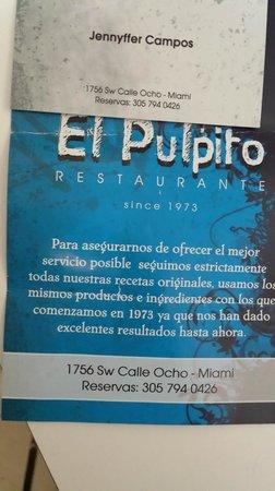 El Pulpito: Quality Service