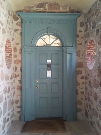 Ste. Anne's Spa: Door to the Games Room, Under the Arch, Main Building
