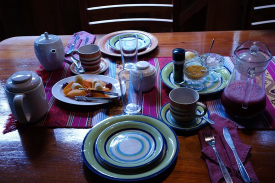 Casa Divina Lodge : Table setting
