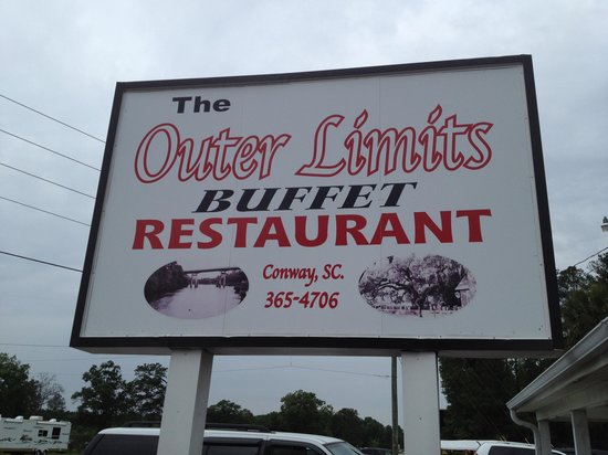 Outer Limits Family Restaurant: Outer Limits sign