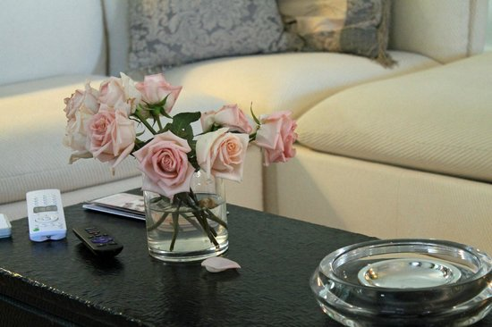 The Guesthouse: Fresh flowers are always present - such a nice touch