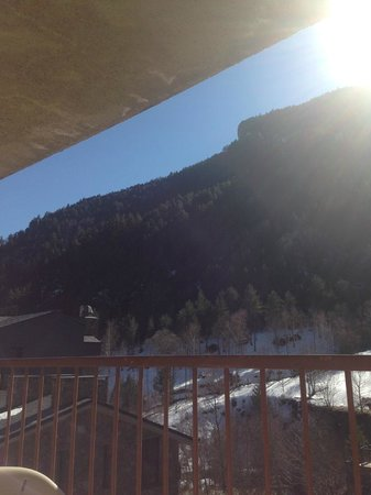 St Gothard Hotel : same view from balcony