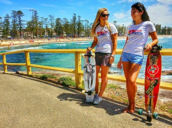 Skater Girls at Manly Beach