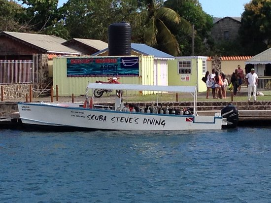 Scuba Steve's Diving Ltd.: waiting to get collected across the inlet