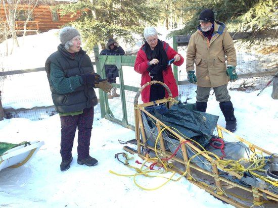 Alaskan Tails of the Trail with Mary Shields : Mary and her sled