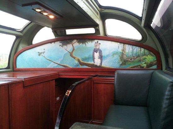 Panama Canal Railway Company: Inside of the tourist car.