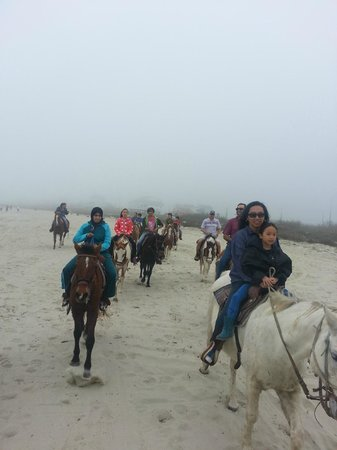 S-n-G Horseback Riding : Fun despite foggy day.