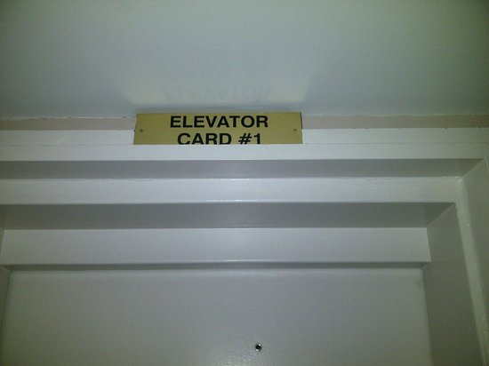 Grand Summit Hotel : Elevator Card or Elevator Cart? Or Just Elevator Car?
