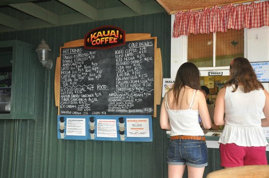 Kauai Coffee Company: Menu at Kauai Coffee
