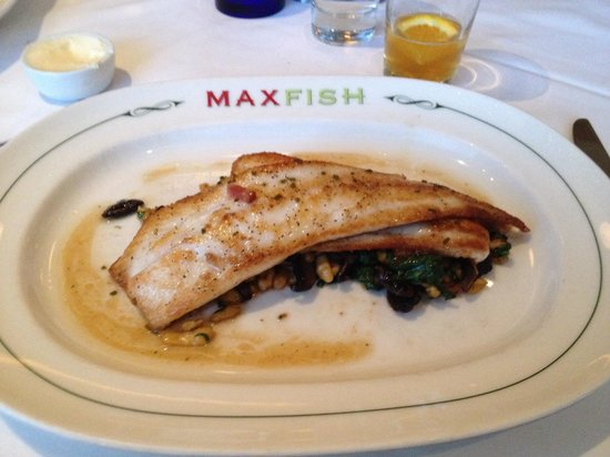 Max Fish: Dinner special Local fluke a la Plancha.  It tastes as good as it looks. The fluke was perfectly