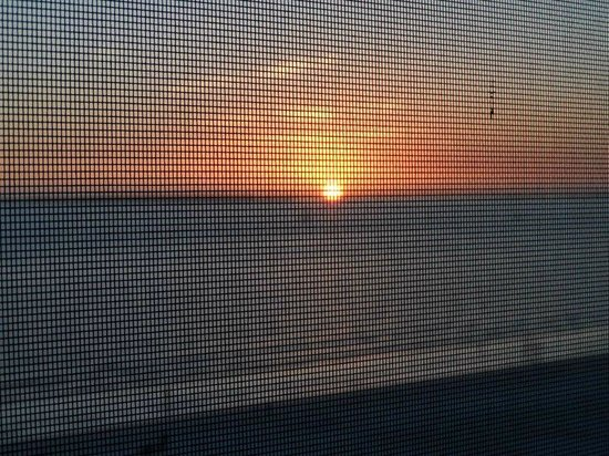 Casa Playa Resort : Sunset through the screen balcony
