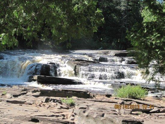 Presque Isle River: One of the falls area