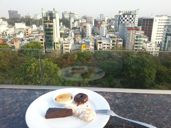 Elios Hotel: Breakfast with a view