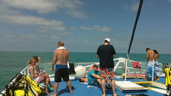 Fury Water Adventures Key West : Enjoying the ride to the reef on Fury
