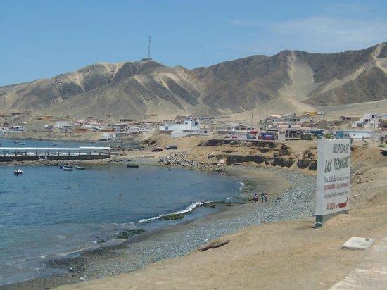 Casma, Perú: La parte norte del balneario.