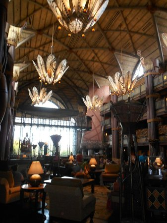 Disney's Animal Kingdom Lodge: Hotel lobby
