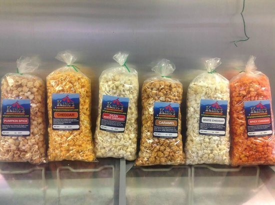 King's Gourmet Popcorn: some of our flavors