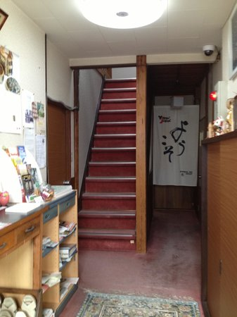 Ryokan Katsutaro: Stairs leading up to the rooms!