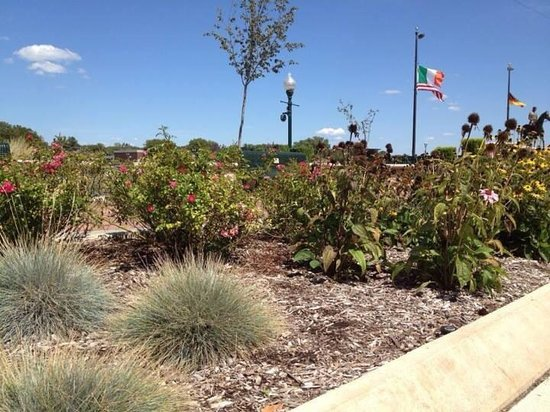 Dixon Welcome Center: Public wildflower gardens across from welcome center & next to the Rock River National Scenic an