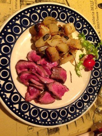 Osteria delle Belle Donne: Tagliata di carne con patate al forno
