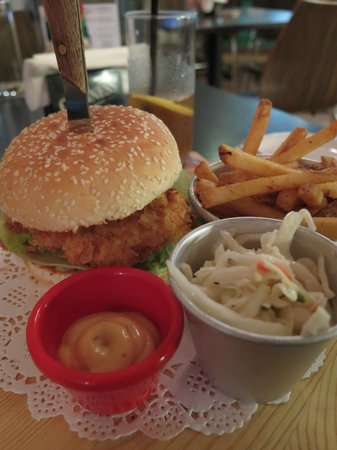 Frontera Sol of Mexico : Fish Sandwich with fries, coleslaw and special sauce