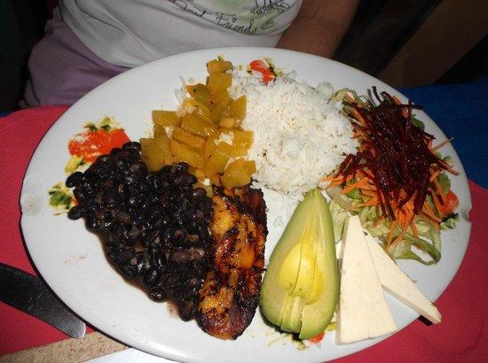 Soda La Naranja: Vegetarian plate