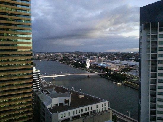 Meriton Serviced Apartments Brisbane on Herschel Street: View from our room.