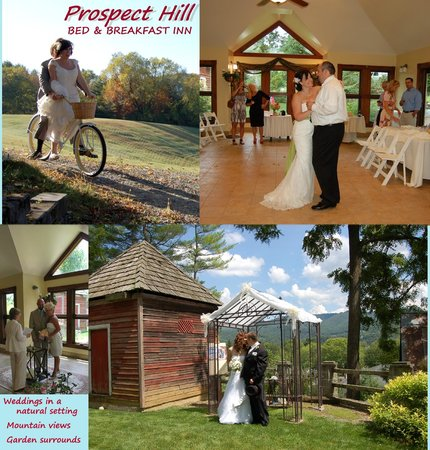 Prospect Hill Bed & Breakfast Inn: Weddings at the inn