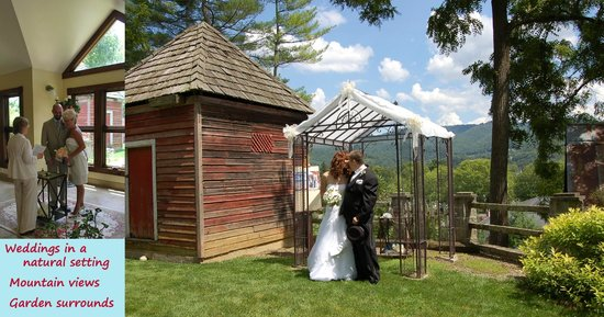 Prospect Hill Bed & Breakfast Inn: Wedding garden with mountain views