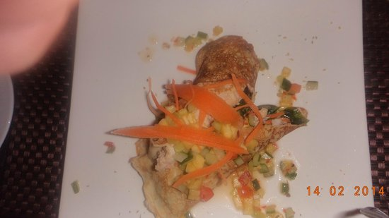 Lomani Island Resort: Valentines Day main Lobster Tail Crepe