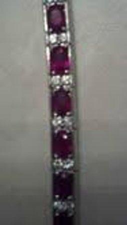 Imperial Jewelers: 12 Carat Ruby 1 3/4  Carat Diamond Tennis Bracelet