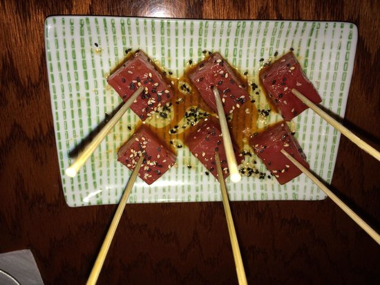 Global Grill: Tuna cubes