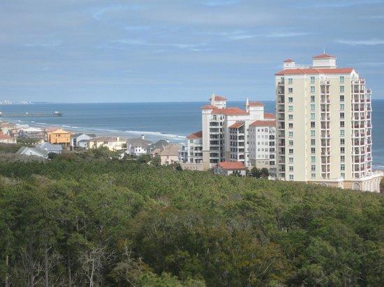 Marriott's OceanWatch Villas at Grande Dunes: View up coast from balcony