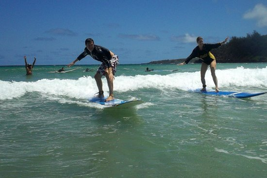 """Learn to Surf: Cliff's """"woo-who"""" the first time we get up together"""