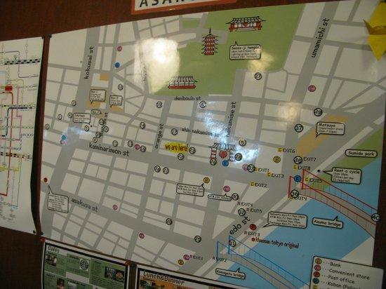 Khaosan Tokyo Kabuki: 地圖資訊