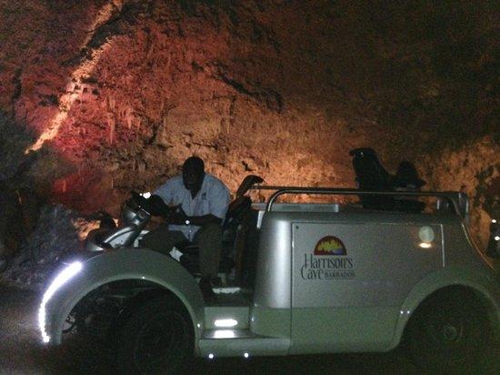 Harrison's Cave: Carrinho de transporte
