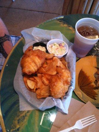 McConkey's Jungle Shack : Hubby loved the fish!