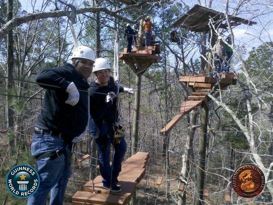 Historic Banning Mills Zip Line Canopy Tours: Level 3 Zip lining!