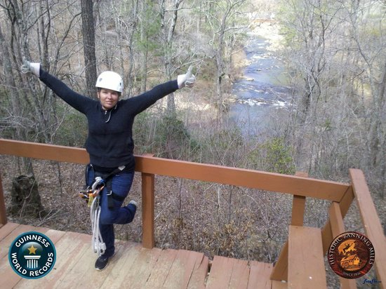 Historic Banning Mills Zip Line Canopy Tours: I did it!