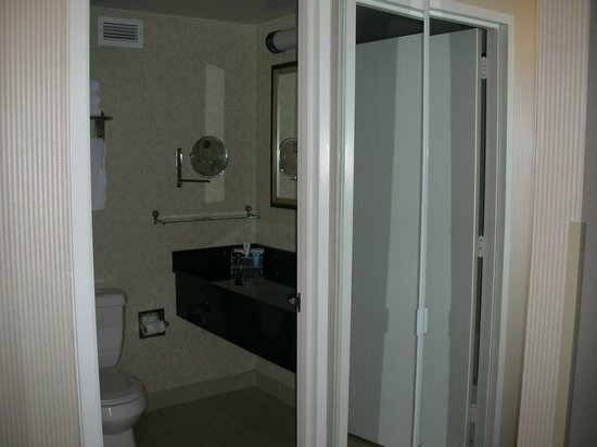 Crowne Plaza Washington National Airport: The bathroom in room 222
