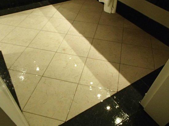 Oasis Tulum: Leak onto floor in Bathroom ~ Coba Building Room 3119