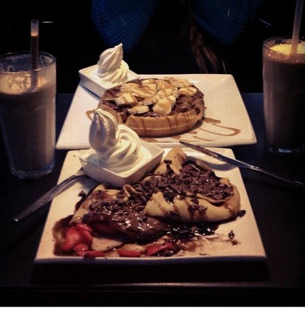 M Amp M Waffle Picture Of Creams Cafe Gants Hill London