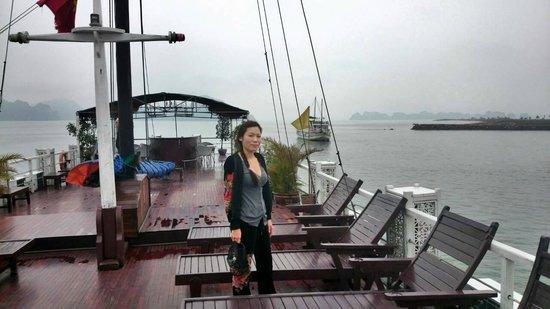 Darian Culbert Day Cruises: deck on the cruise