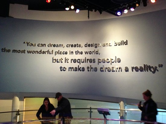 A Fantastic Quote Above The Scale Model Of 1959 Disneyland Picture